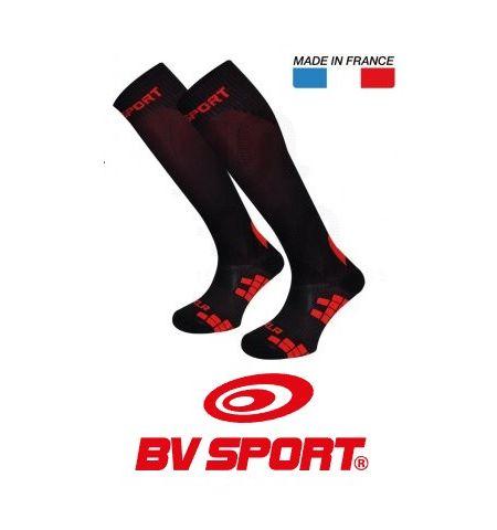 Chaussettes de compression XLR EVO noir et rouge